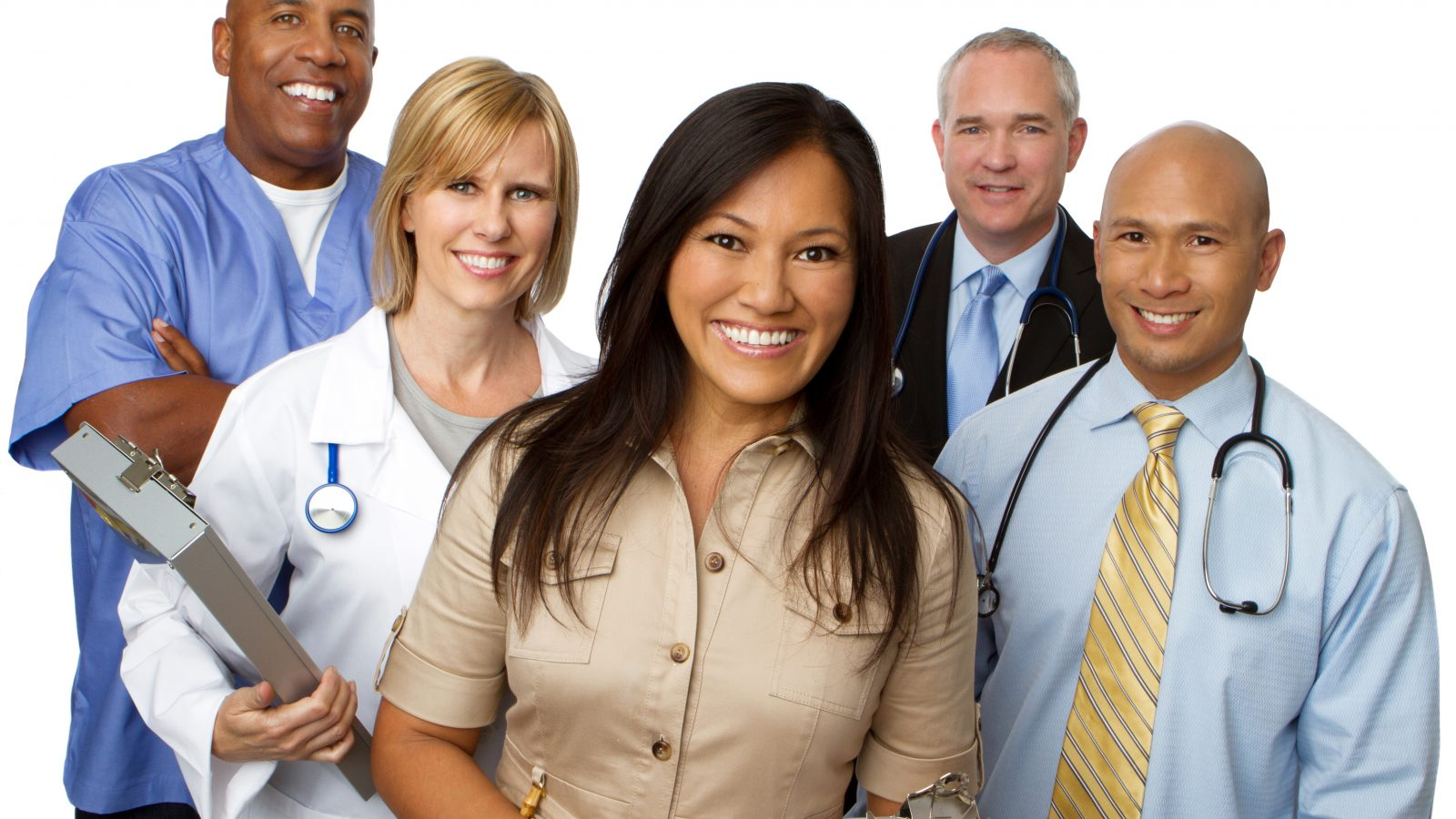 Group of smiling Hospital Professionals