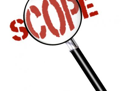 """Magnify Glass looking at the Text """"SCOPE"""""""