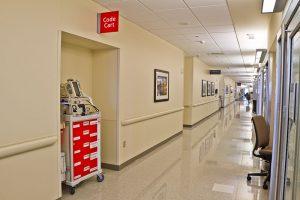 Emergency Code Cart Hospital Hallway