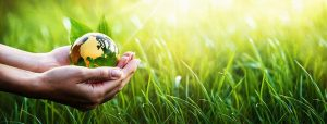 Green Planet in Your Hands. Save Earth. Environment Concept