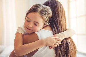 Beautiful,Young,Woman,And,Her,Charming,Little,Daughter,Are,Hugging