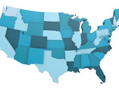 Blue USA map